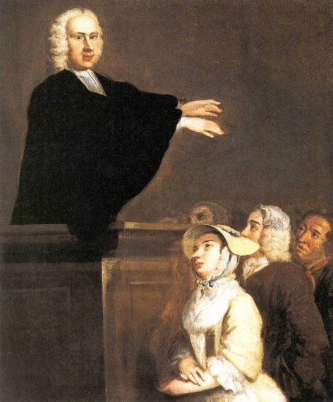 The Young George Whitefield Preaching