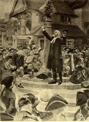 John Wesley Preaching to the Crowds